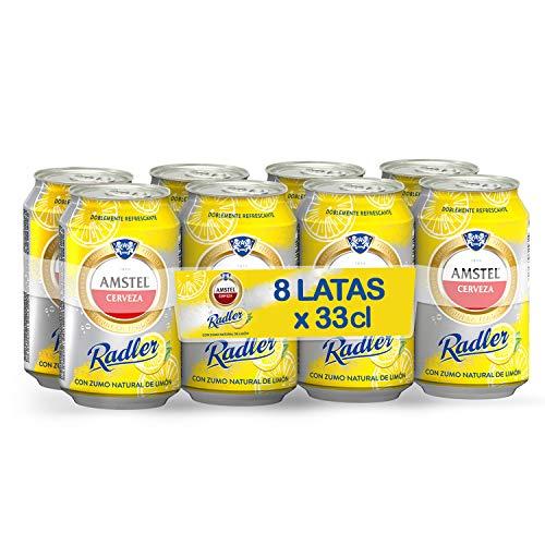 Amstel Radler Limon Cerveza - Pack de 8 x 330 ml -Total: 2.64 L