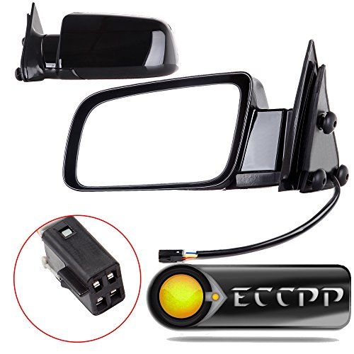ECCPP Driver and Passenger Power Side View Mirrors with Metal Bases Replacement Replacement fit for Chevy GMC Pickup Truck SUV 15764757 15764758