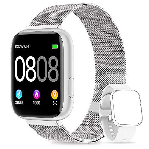 AIMIUVEI Smartwatch, Reloj Inteligente Mujer Hombre IP67 con