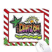 メキシコ文化素子ピンクダンソンのスローガン ゴムクリスマスキャンディマウスパッド