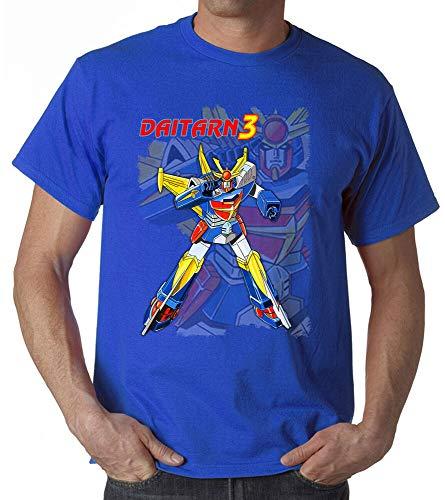 OF T Shirt Invincible Steel Man Daitarn 3 Cartoon Years 80 Manga Anime Man Woman Baby Up Size 5XL Sapphire XL