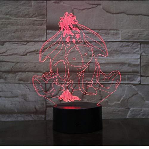 Winnie l'ourson ami mignon de bande dessinée 3D LED nuit lumière 7 couleur tactile lampe de table décoration de la maison enfants décoration de vacances cadeau