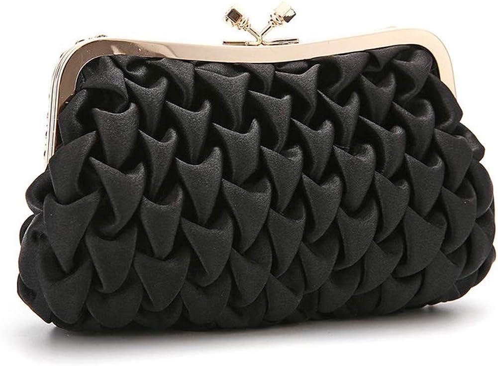 Debutante Evening Bag Black Women Clutch Bag With Chain Shoulder Strap Shoulder Bag