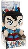 """DC COMICS - Peluche con caja del personaje """"Superman"""" el héroe de la película, dibujos y cómics """"SUPERMAN"""" (18cm) - Calidad super soft"""