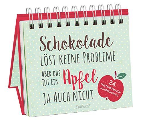 Schokolade löst keine Probleme, aber das tut ein Apfel ja auch nicht: 24 Postkarten für Schokoholics