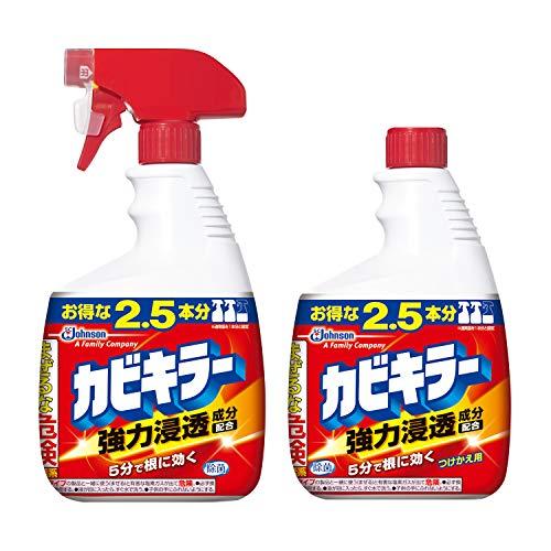 【まとめ買い】 カビキラー カビ取り剤 特大サイズ 本体 1000g つけかえ用 1000g