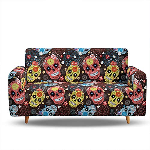 3D Digital Printing Sofa Slipcover,Sofa Cover Stretch Armless Anti-Slip Elastic Full Folding Couch Sofa Shield Fits Folding Sofa Bed,Easy To Install,Fit 1/2/3/4 Seat 3 Seater