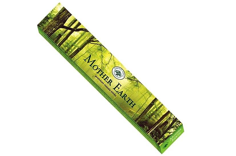トランザクション別々にバックグラウンドグリーンツリーMother Earth Incense Sticks 15?gmボックス