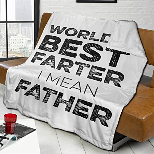 World's Best Farter, I Mean Father Warm and Comfortable Soft Blanket Blanket Silver Fox Down Cashmere Blanket