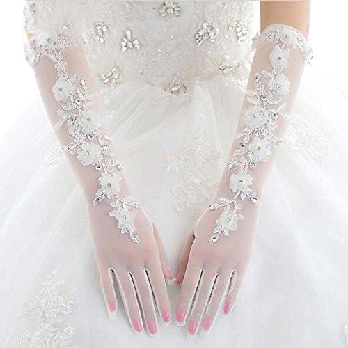Longs gants de dentelle florale Style Long Gants de mariage mariée