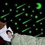 Stelle Fosforescenti,Stelle Fluorescenti Adesive Soffitto Bambini,Adesivi Luminosi al Buio per Camerette,Luna Stelle Fluorescenti,Luna Fluorescente Adesiva,Fosforescenti Adesivi(211pcs)