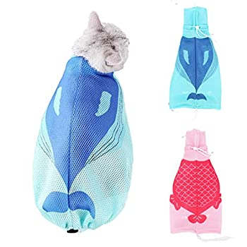 Zuzer 2Pack Toilettage du Chat Sac Toilettage Chat Cat Bathing Bag pour Le Bain de Coupe des Ongles pour Animaux de Compagnie
