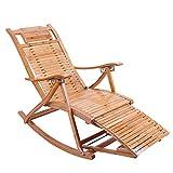 Sessel ZR- Liegestuhl Bambus Klappstuhl Älterer Schaukelstuhl Siesta-Stuhl Balkon Lounge Draussen Rasen Gartenstuhl Liegestühle