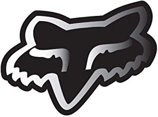 Fox Racing - Fox Sticker - Fox Head Chrome 7