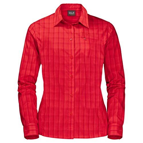 Jack Wolfskin Damen Centaura Flex Shirt, red fire, M