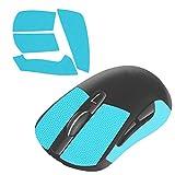 LinkIdea Cinta de agarre antideslizante para ratón Logítech G PRO, G102, G304, G403 Gaming Mouse Elastics Refinado Puños Laterales Resistentes al Sudor Almohadillas Antisudor, Corte a Ajuste (Azul)