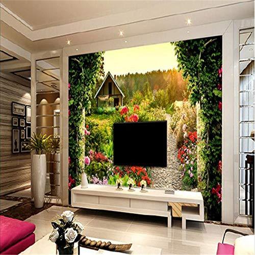 Shuangklei Tv Papier 3D Tuin Grote Mural Woonkamer Slaapkamer Slaapbank Hotel Decoratie 200x140cm