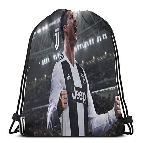 Juve Cr7 Sport Sackpack Drawstring Backpack Gym Bag Sack