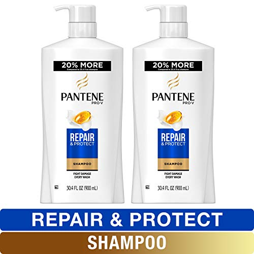 Pantene, Shampoo, Pro-V Repair and Protect for Damaged Hair, 30.4 fl oz, Twin Pack