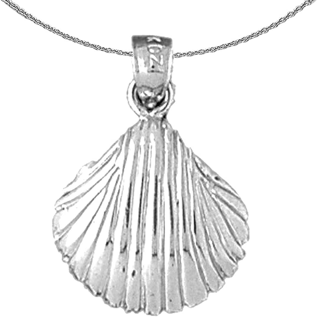 Jewels Obsession Gold Shell Necklace 14K Fresno Mall Ranking TOP2 Pend White