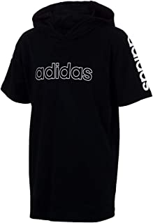 adidas Camiseta grande de manga corta con capucha para niño