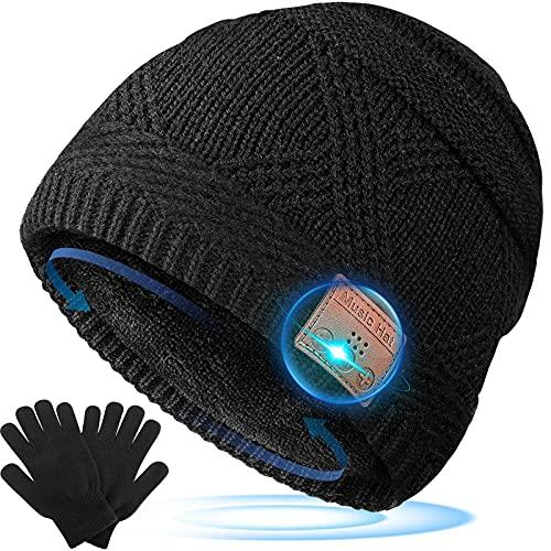 Regalos Hombre Gorro Bluetooth - Regalos Navidad Originales, Gorro con Auriculares Bluetooth Regalos para Padres, Gorro y Guantes Invierno Regalos Personalizados para Hombre, Mujer, Adolescentes