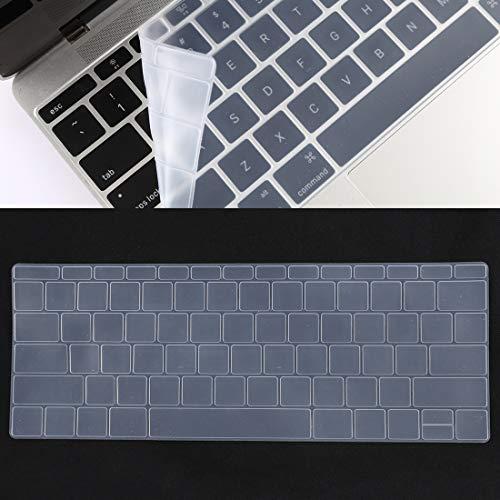 YCZLZ Laptop Keyboard Cover Beschermende Film Bieden uitgebreide bescherming Toetsenbord Beschermer Silica Gel Film voor MacBook Retina 12 / Pro 13 (A1534 / A1708)(Zwart)