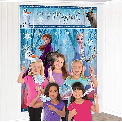 Disney's Frozen Scene Setters Wall Banner Decorating Kit Birthday Party Supplies by Disney