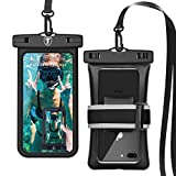 Takfox [Floating] Waterproof Phone Pouch for Samsung Galaxy S21 Ultra S20 Plus S10+ S9 S8 S7 J7, Note 20 Ultra 10 9, A01 A11 A21 A51 A71 A10e A20 A12, Stylo 6 5,K51,K31 Cell Phone Dry Bag Case-Black