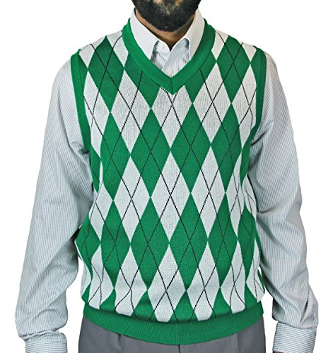 Blue Ocean Big Men Argyle Jacquard Sweater Vest-4X-Large Green