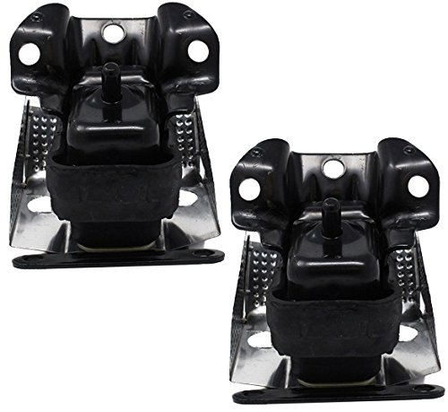 ENA Right and Left Engine Motor Mount with Heat Shield 2pc Set Compatible with 2007-2014 Cadillac Escalade Chevy Silverado Suburban Tahoe GMC Sierra Yukon A5365 15854941 15854939