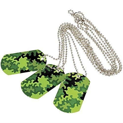Price comparison product image Camouflage Camo Metal Dog Tags (Lot Of 12)