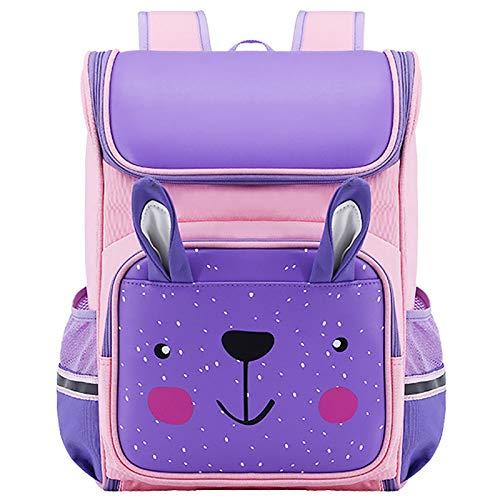 Mochila Escolar De Satch con Diseño Ergonómico Mochila Escolar Niña Adolescente Ocio Trucksack Daypacks Mochila,Púrpura,L