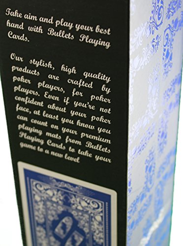 Profi Pokermatte grün in 100 x 60cm von Bullets Playing Cards für den eigenen Pokertisch – Deluxe Pokertuch – Pokerteppich – Pokertischauflage – ideal als Geschenk - 4