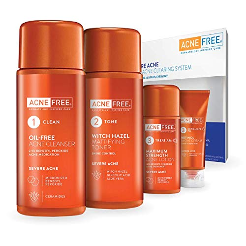 AcneFree 24 Hour Severe Acne Clearing System 1 kit (Pack of 6)