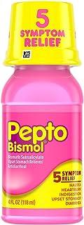 Pepto-Bismol Original Liquid 5 Symptom Relief, Including Upset Stomach & Diarrhea 4 Oz (Pack of 4)