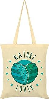 Nature Lover Tote Bag Cream 38x42cm