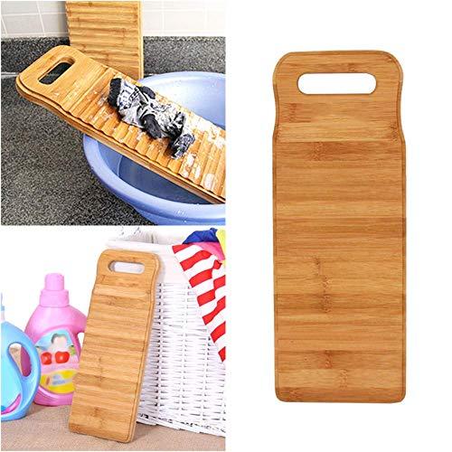 XILOSIN 1PCS Wäsche Waschbrett Bambusholz Waschen von Kleidung Washboard für Heim Handwäsche Brett