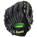 Franklin Sports Baseball and Softball Glove - Field Master - Baseball and Softball Mitt Black, 12.0'
