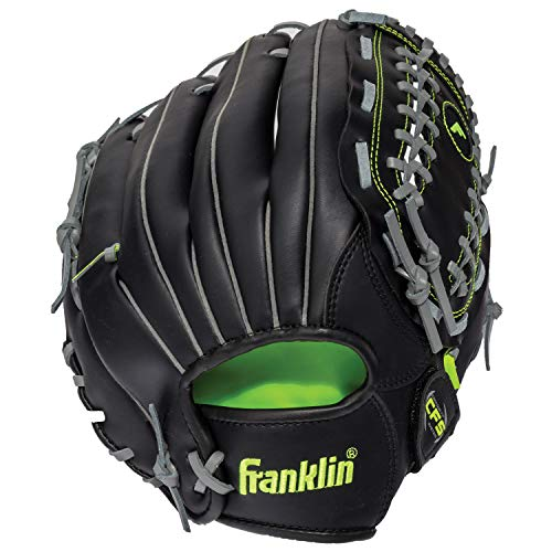 Franklin Sports Baseball and Softball Glove - Field Master Midnight - Baseball and Softball Mitt - Adult and Youth Glove - Right Hand Throw - 12'