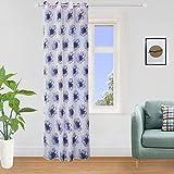 Girasole - Cortina transparente con flores estampadas...