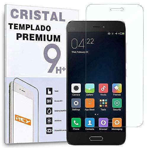 REY Protector de Pantalla para XIAOMI Mi5 / M5 Cristal Vidrio Templado Premium