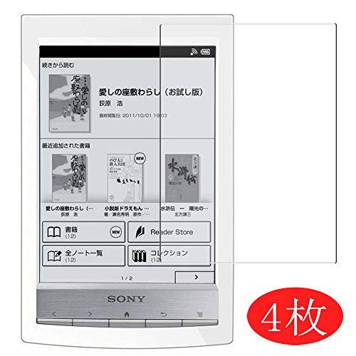 Vaxson 4 Stück Schutzfolie kompatibel mit Sony Reader PRS-T2 / PRS-T1 / PRS-G1, Displayschutzfolie Bildschirmschutz Blasenfreies TPU Folie [Nicht Panzerglas]