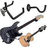 Jashem Guitar Wall Mount Acoustic Electric Classical Guitar, Ukulele, Banjo and Mandolin Wall Hanger Slat Wall Horizontal Guitar Holder Bass Stand Rack Hook