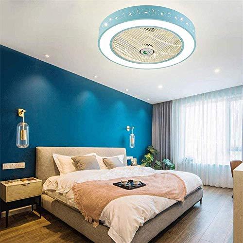 Lámpara de Ventilador de Cocina Ventilador de Techo con iluminación con Control Remoto, Candelabro de Ventilador Invisible Creativo de 3 velocidades, Lámpara Colgante para habitación de niños