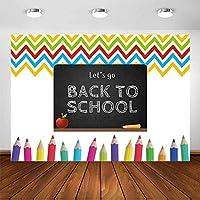 新しい学校に戻る学校に戻る黒板描画写真の背景7x5ftビニール色鉛筆学校に戻るパーティーバナー背景