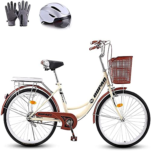 MOME 22inRoad bike women's light adult city student commuter bike bike is suitable for people with a height of 150cm 170cm, 26 inch bike is suitable for height