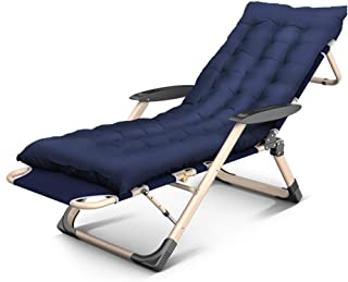 Deck Chair Lounger Folding Bed Camping Bed Portable Travel Recliner Office Nap Lounge Chair Pregnant Woman Backrest Armchair,D