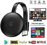 AN pour Connexion WiFi TV Stick pour Le Nouveau Google Chromecast 3 pour Netflix Youtube Affichage WiFi HDMI Dongle sans Fil Miracast pour Android iOS PC, Appareil WiFi