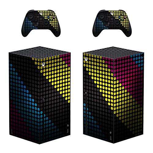 AXDNH Pegatinas De Piel para El Controlador De La Consola Xbox Series X, Pegatinas De Película Protectora De PVC, Accesorio Compatible para La Consola De Juegos De Microsoft (Serie X),0445